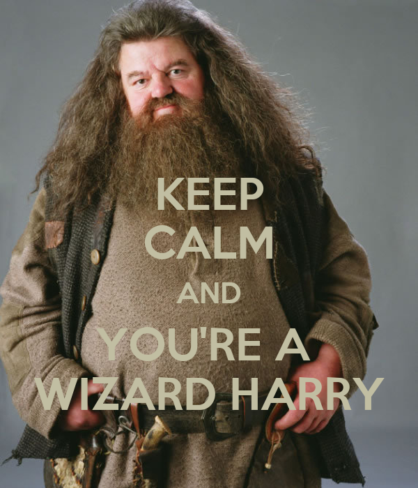 KEEP CALM AND YOU'RE A  WIZARD HARRY