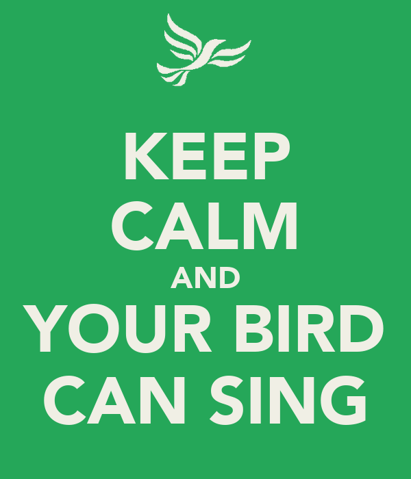 KEEP CALM AND YOUR BIRD CAN SING