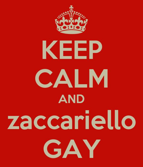 KEEP CALM AND zaccariello GAY