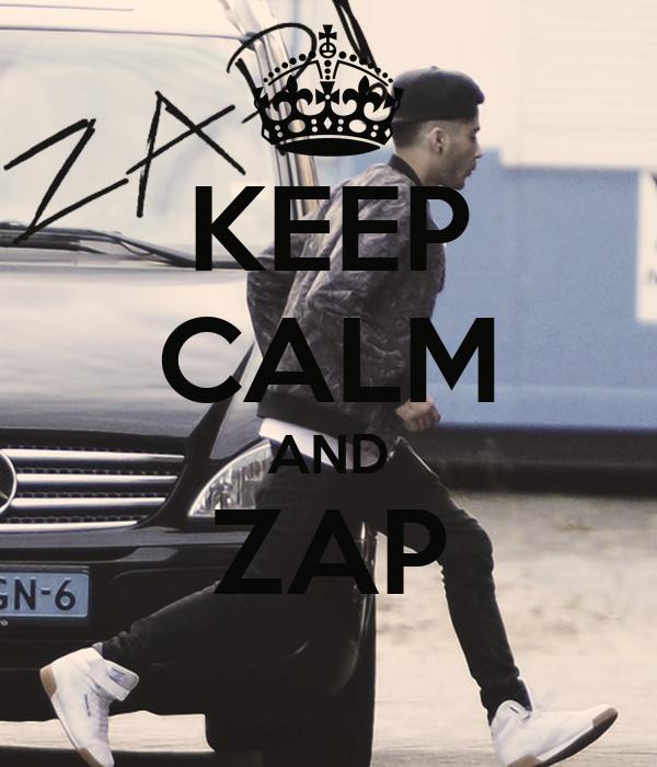 KEEP CALM AND ZAP