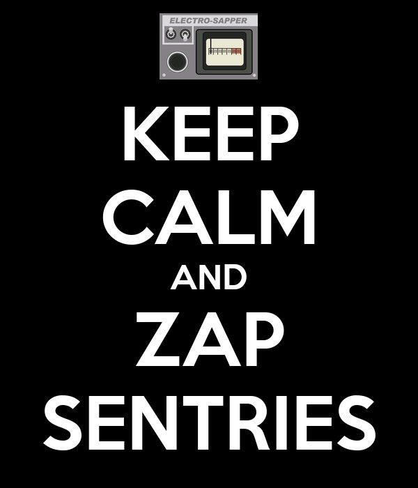 KEEP CALM AND ZAP SENTRIES