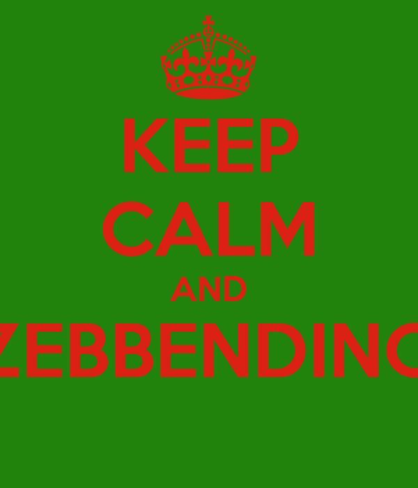 KEEP CALM AND ZEBBENDINO