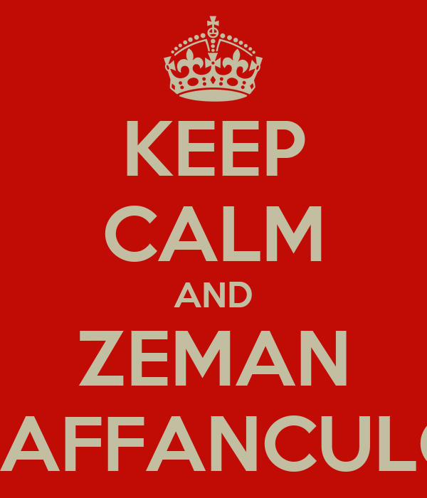 KEEP CALM AND ZEMAN VAFFANCULO