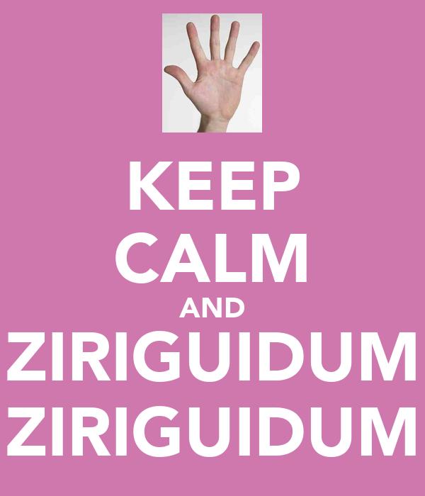 KEEP CALM AND ZIRIGUIDUM ZIRIGUIDUM