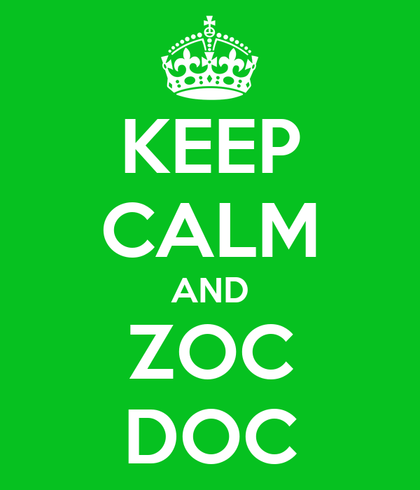 KEEP CALM AND ZOC DOC
