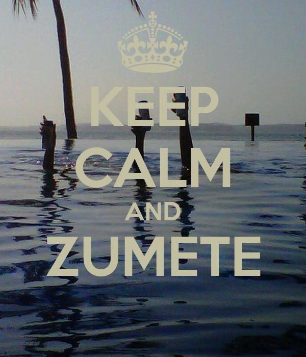 KEEP CALM AND ZUMETE
