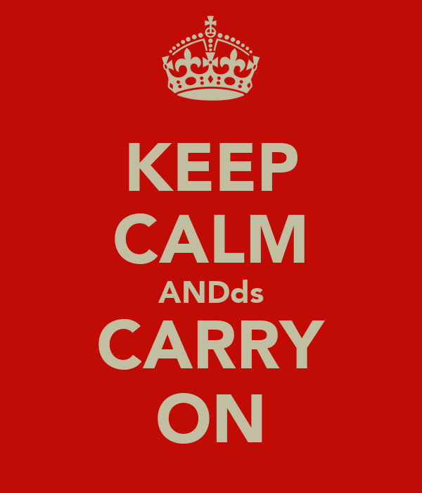 KEEP CALM ANDds CARRY ON