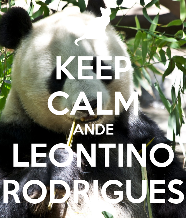 KEEP CALM ANDE LEONTINO RODRIGUES