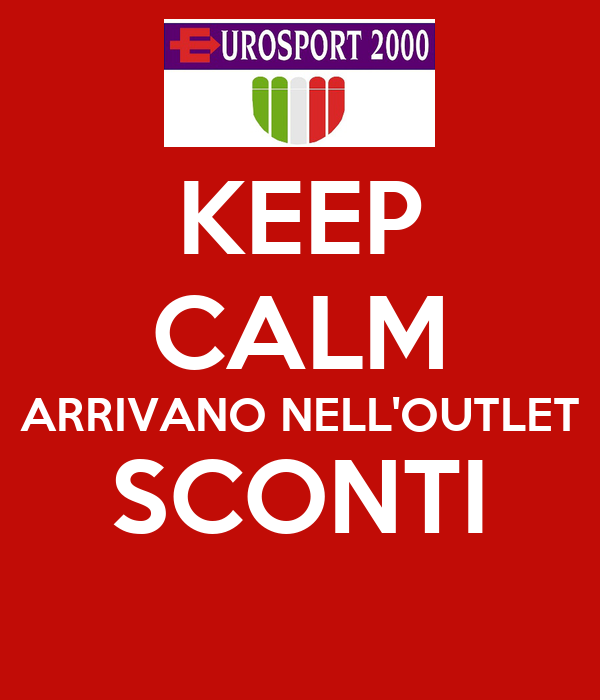 KEEP CALM ARRIVANO NELL'OUTLET SCONTI