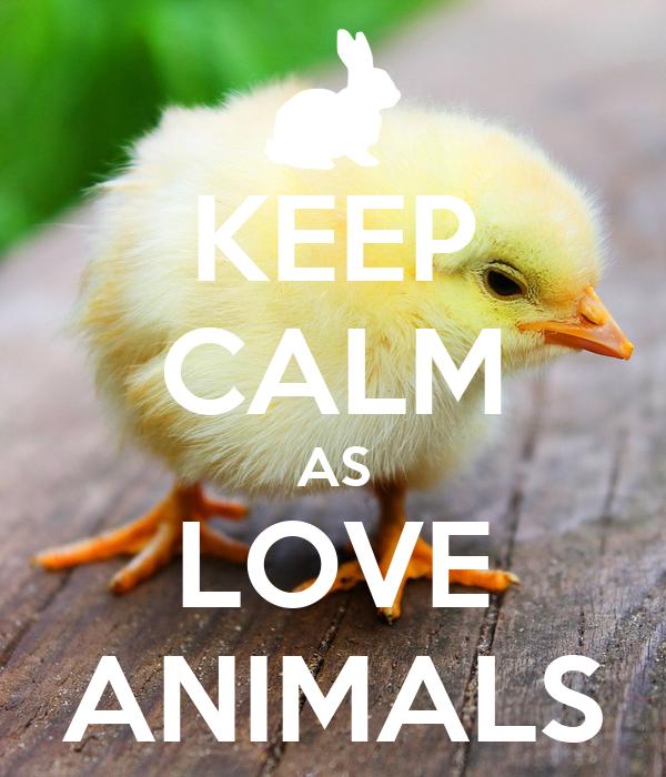 KEEP CALM AS LOVE ANIMALS