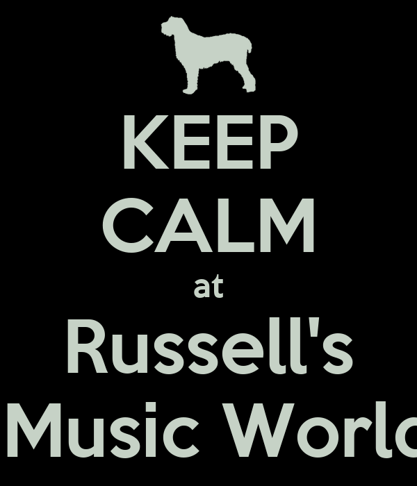 KEEP CALM at Russell's  Music World