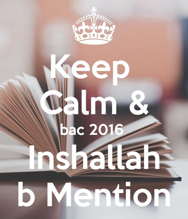 Keep  Calm & bac 2016  Inshallah b Mention