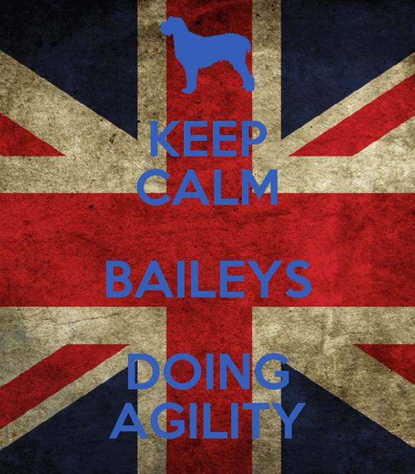 KEEP CALM BAILEYS DOING AGILITY