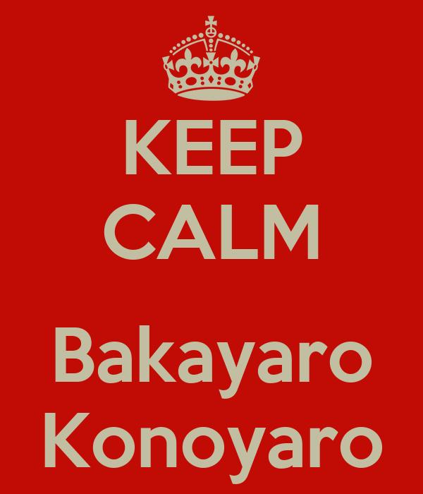 KEEP CALM  Bakayaro Konoyaro