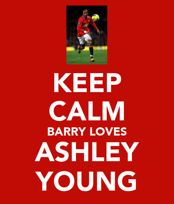 KEEP CALM BARRY LOVES ASHLEY YOUNG