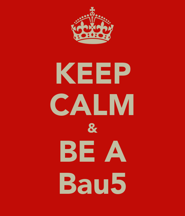 KEEP CALM & BE A Bau5