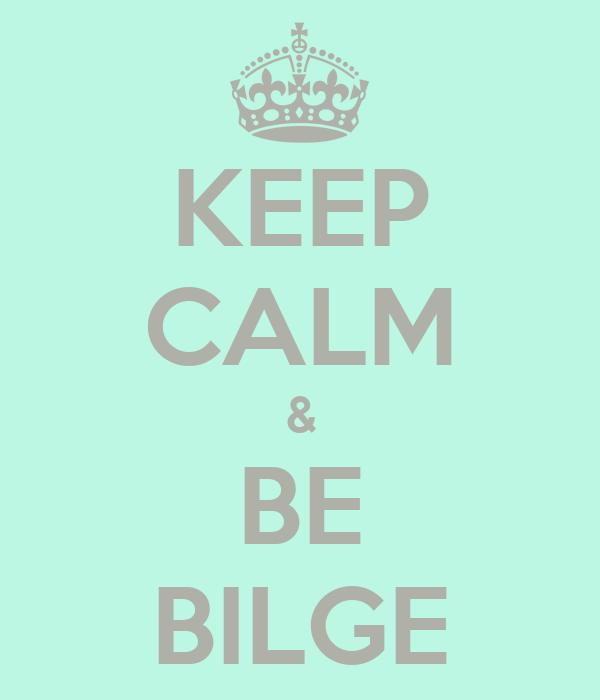 KEEP CALM & BE BILGE