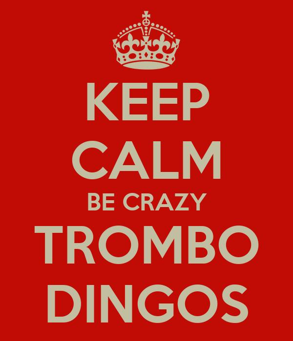 KEEP CALM BE CRAZY TROMBO DINGOS