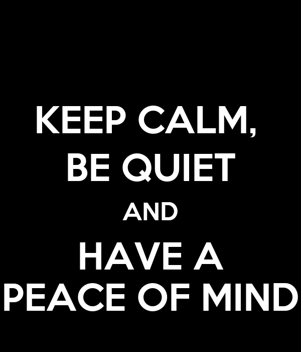 how to make mind peace and calm