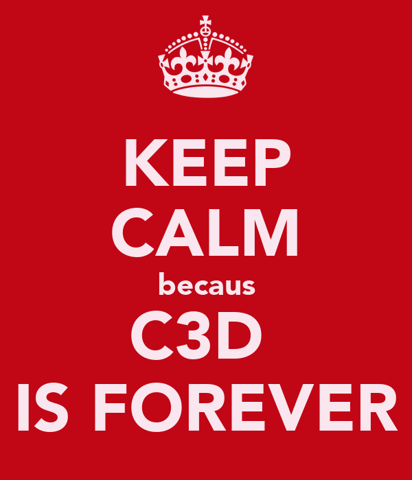 KEEP CALM becaus C3D  IS FOREVER