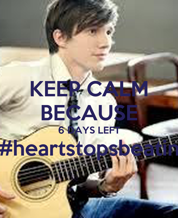 KEEP CALM BECAUSE 6 DAYS LEFT #heartstopsbeatin