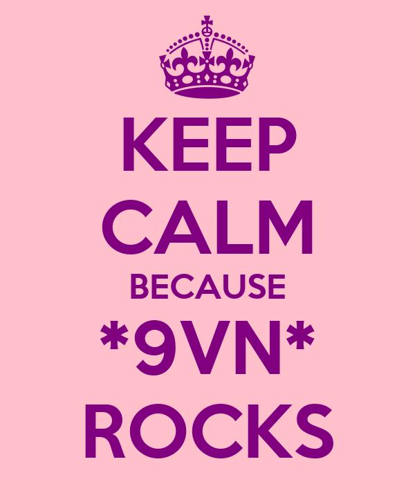 KEEP CALM BECAUSE *9VN* ROCKS