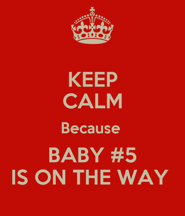 KEEP CALM Because  BABY #5 IS ON THE WAY