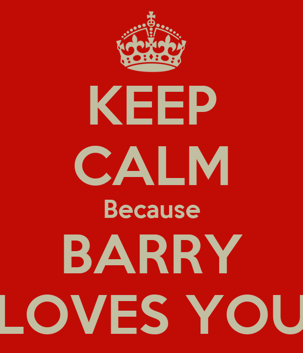 KEEP CALM Because BARRY LOVES YOU