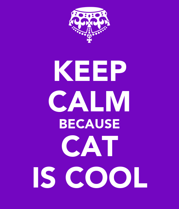 KEEP CALM BECAUSE CAT IS COOL