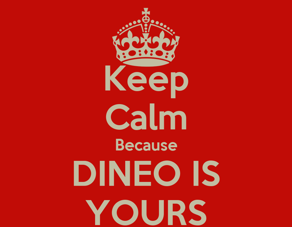 Keep Calm Because DINEO IS YOURS