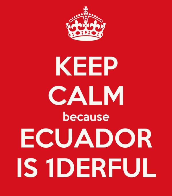 KEEP CALM because ECUADOR IS 1DERFUL