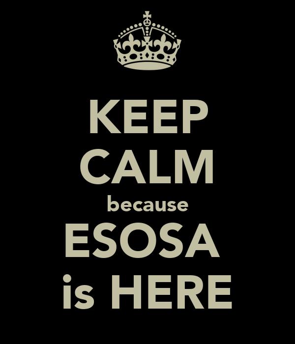 KEEP CALM because ESOSA  is HERE