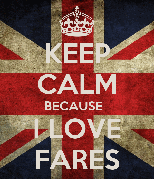 KEEP CALM BECAUSE   I LOVE FARES