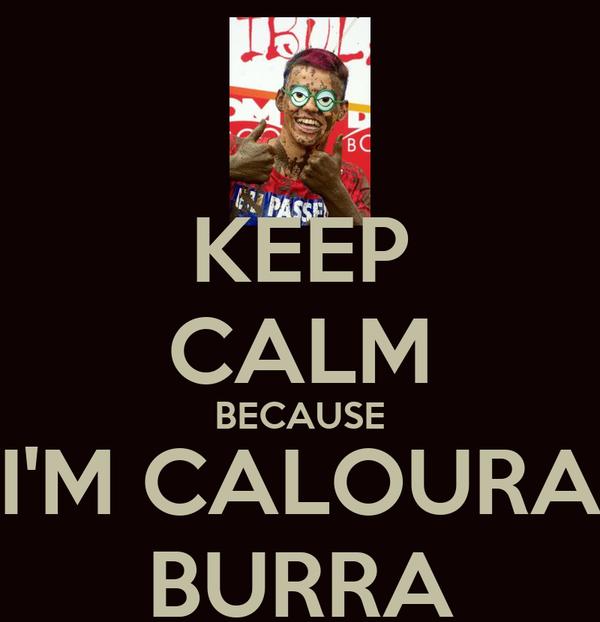 KEEP CALM BECAUSE I'M CALOURA BURRA