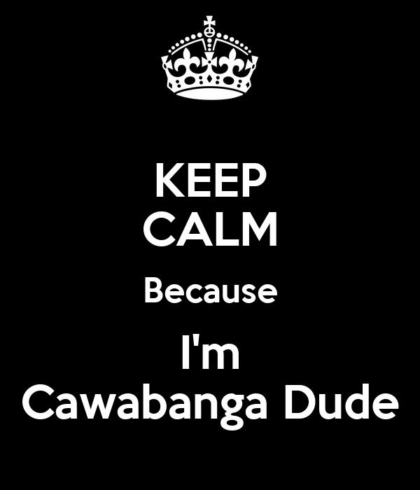 KEEP CALM Because I'm Cawabanga Dude