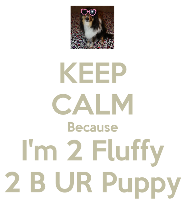 KEEP CALM Because I'm 2 Fluffy 2 B UR Puppy
