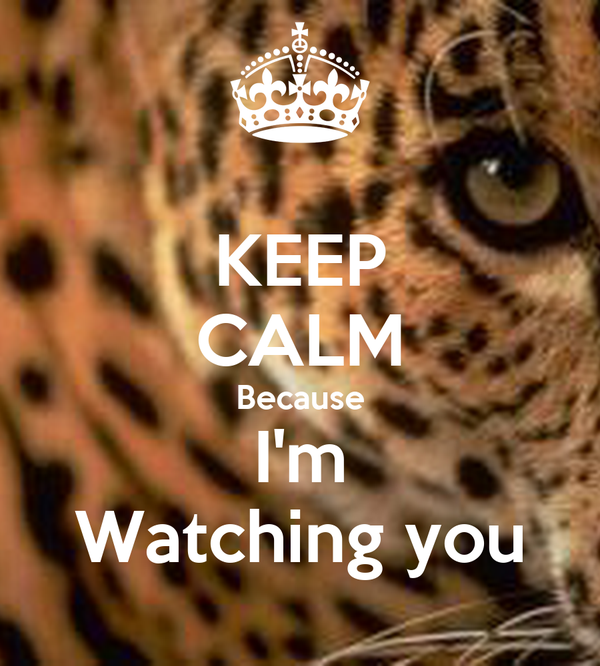 KEEP CALM Because I'm Watching you