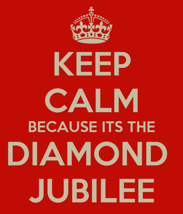 KEEP CALM BECAUSE ITS THE DIAMOND  JUBILEE