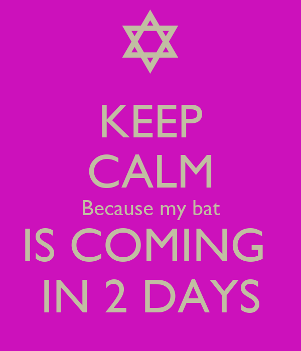 KEEP CALM Because my bat IS COMING  IN 2 DAYS