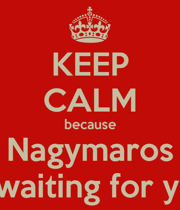 KEEP CALM because Nagymaros is waiting for you