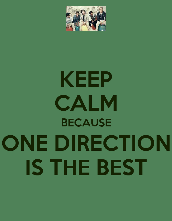KEEP CALM BECAUSE ONE DIRECTION IS THE BEST
