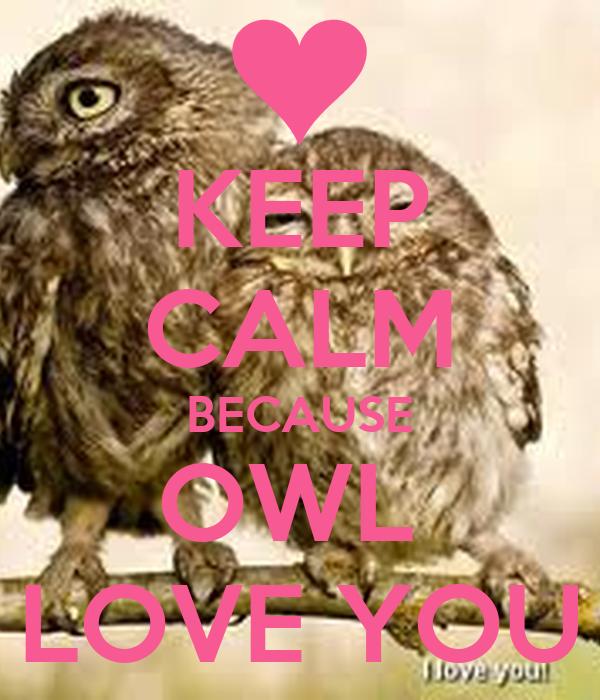 KEEP CALM BECAUSE OWL  LOVE YOU