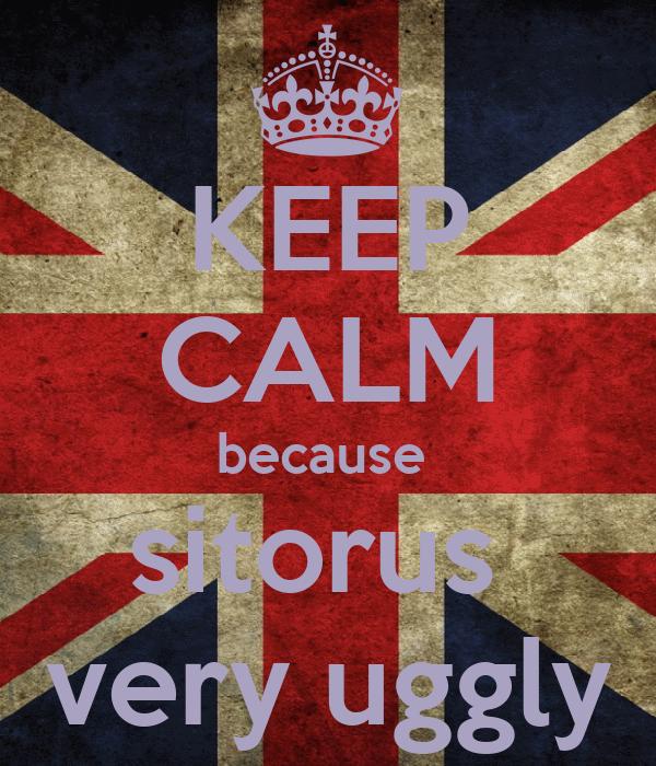 KEEP CALM because  sitorus  very uggly