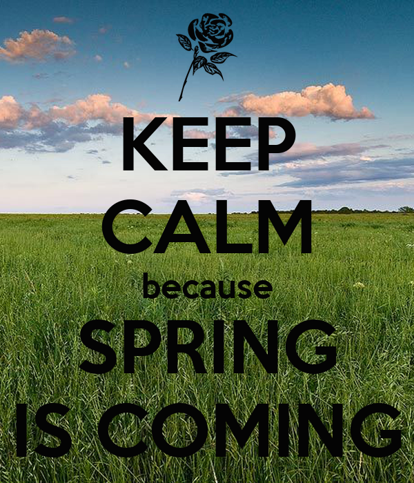 KEEP CALM because SPRING IS COMING