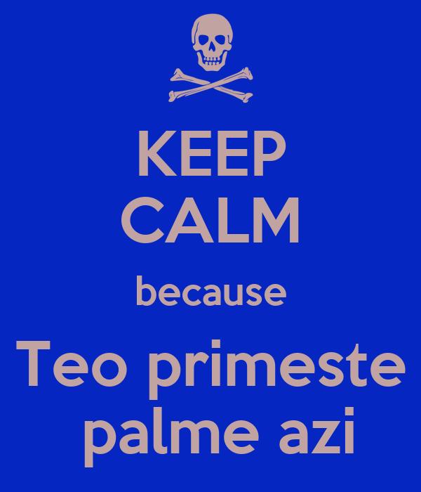 KEEP CALM because Teo primeste  palme azi