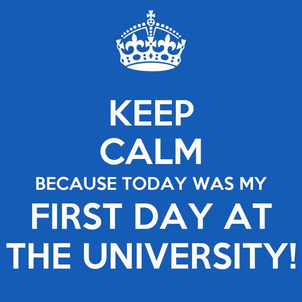 the first day at university