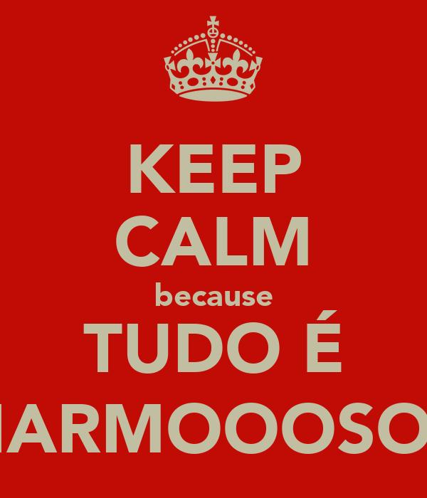 KEEP CALM because TUDO É CHARMOOOSO =)