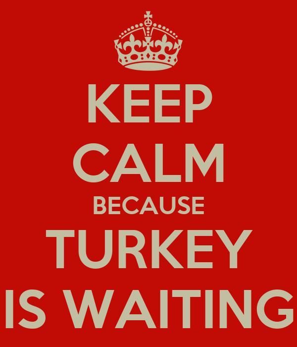 KEEP CALM BECAUSE TURKEY IS WAITING