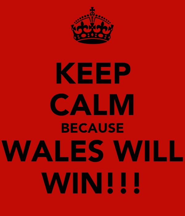 KEEP CALM BECAUSE WALES WILL WIN!!!