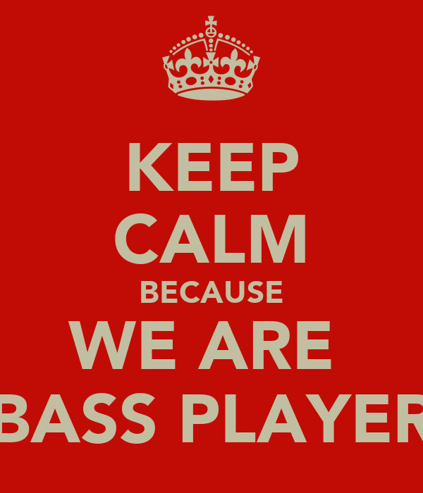 KEEP CALM BECAUSE WE ARE  BASS PLAYER